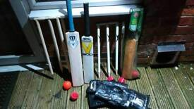 Cricket bat sets x3
