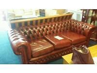 CHESTERFIELD 3 PIECE SUITE - STUNNING
