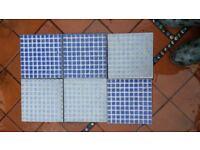 Mosaic style tiles blue
