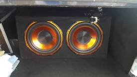 Edge dual subs with built in amp