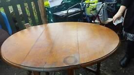 Barley Twist drop leaf dining table