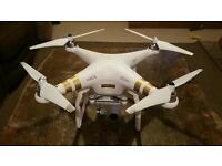 Dji Phantom 3 professional drone with 3 batteries and hard case