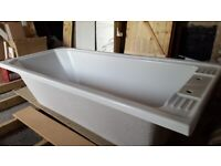 Scarcely used traditional style bath, side panel, feet and handles.