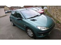 Peugeot 206 GLX Drives A1 Long MOT Service History Bargain Car