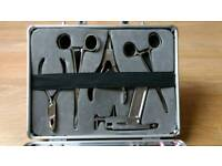 Set of piercing tools with case