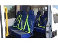 Rear seats with seatbelts