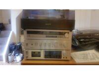 Pioneer turntables + amplifier/tape deck/tuner