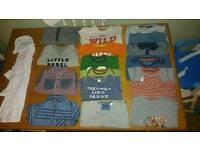 Large bundle of boys 12-18 months clothes