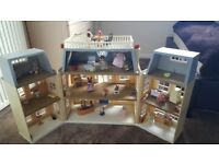 Sylvanian family hotel and playground