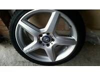 "Genuine Mercedes C A Class Amg 18"" Alloy Wheels And Continental Tyres"