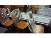 3 New pine wood chairs free delivery or collection