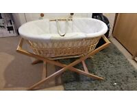Mamas and papas baby moses basket and stand