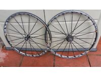 Mavic ksyrum front and rear wheels in used condition like on pixtures!can deliver or post!