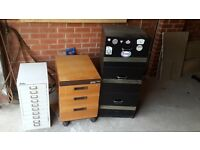 3 sets of filing cabinets