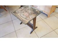 Beautiful Rare Antique Tapestry Table / Fire Guard