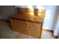 John E Coyle oak 2 doors Sideboard unit with glass shelf