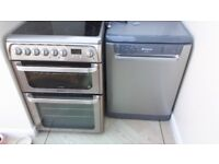 Hotpoint Cooker and Dishwasher