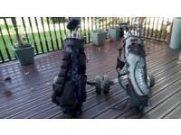 Golf Clubs /Trolleys (2 of each) BARGAIN