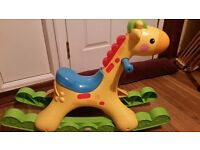musical//talking rocking horse//battery operated//clean as new//