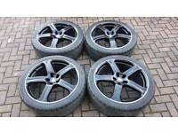 GENUINE 22 INCH REVERE WC1 ALLOY WHEELS 5X120 LAND ROVER RANGE ROVER VW T5 BMW X5