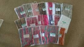 Bundle of craft yarns and threads