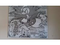 """Donald Duck Print on Canvas (30"""" × 30"""") SEALED"""