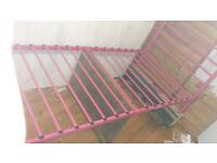 Pink Single Metal Bed Frame