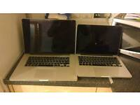 2 Macbook Pro Retina's Spares or Repair
