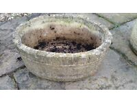 Oval Stone Planter/Plant Pot