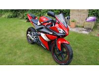 Yamaha YZF R125, 12 months Mot, free warranty & free delivery