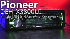 Pioneer DEH-X3800UI Car Stereo Radio CD, MP3, USB, AUX in, MixTrax 4x50 Watt (no offers, please)
