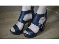Leather Heel Sandals Jessica Simpson