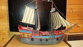 Playmobil Pirate Ship + figures
