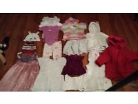 KIDS BABY GIRL CLOTHES BUNDLE 12 - 18 Months GAP H&M MONSOON HELLO KITTY COAT DRESS HAT TOP SWIM