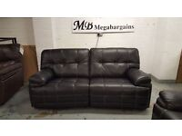 New ScS Axis 3 Seater Manual Black Leather Sofa **CAN DELIVER**