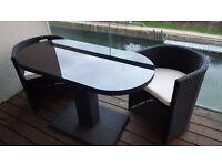 Alfresia St Tropez rattan bistro patio set (black; price: GBP 200)