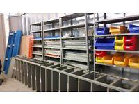Metal storage shelving and racking