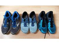 2 x Asics & 1 x Saucony runners