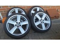 """Wheels and tyres 18 """" audi rs, vw , leon"""