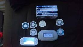 Psp for sale plus 10 games and 2 films