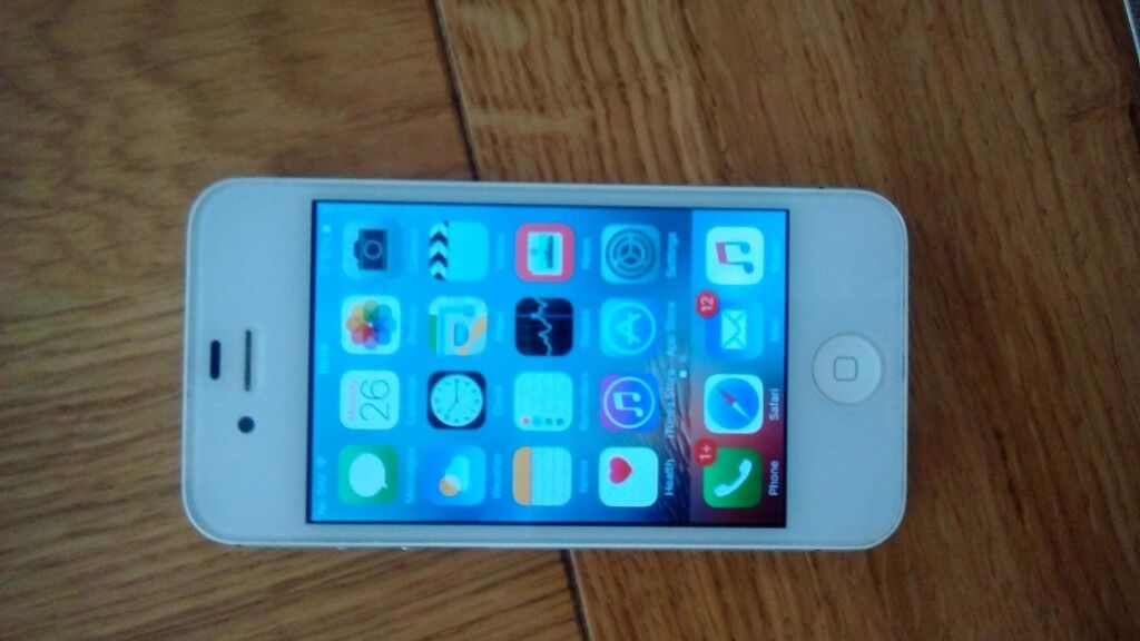 I phone 4 white unlocked excellent conditionin West Derby, MerseysideGumtree - White I phone 4 excellent condition, unlocked,any trial,no more time wasters, will not take offers , will not deliver, pick up only , Croxteth Park genuine sale ,not a dealer