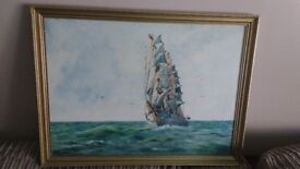 Original Artwork by Don Blizzard 'Like a Swan On The High Seas'