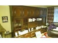 Very Large Vintage Retro Lounge Cabinet Display Sideboard