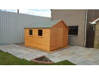 FREE UPGRADE TO 19MM THICK T &G WEATHER BOARDING 10X10 WORKSHOP