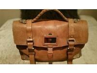 "Mulberry Dark Brown Lambskin ""Oversized Alexa Travel Bag"