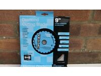9in / 230mm DIAMOND CUTTING DISC BLADES. Brand New!