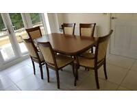 Classic Wooden Dining table with 6 chairs