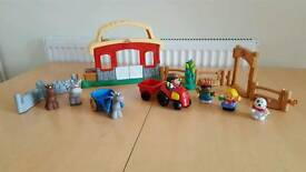 Little people and weebles toys