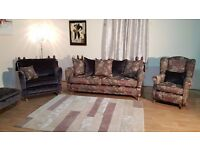 Ex-display Berkeley Magna Morris 4 seater sofa, wing chair, cuddler chair and storage footstool