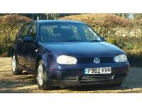 VW GOLF GT TDI PD(130BHP) 2002 *12 MONTHS MOT* 5 Door-TURBO DIESEL- Air Con/Alloys/Immaculate Golf!!